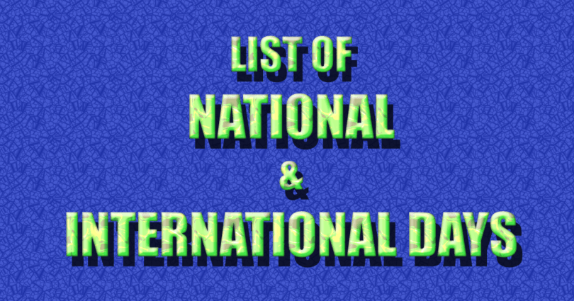 World's Important National And International Days